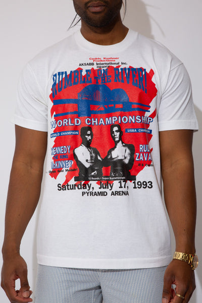 rumble on the river boxing tee. 90s vintage. magichollow.