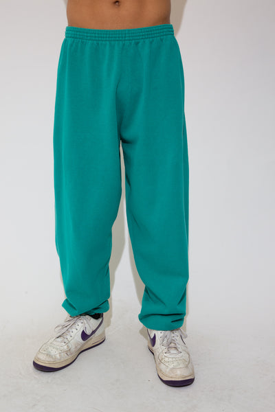 trackpants in a green colour-way. 90s vintage. magichollow.
