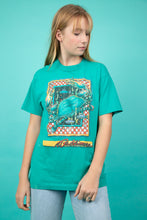 Load image into Gallery viewer, Model wearing aqua baltimore tee, magichollow