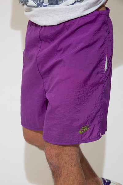 nike shorts in purple. 90s vintage. magichollow.