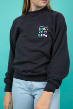 Load image into Gallery viewer, faded black vintage sweater from eddie murphy 1986 tour - magichollow