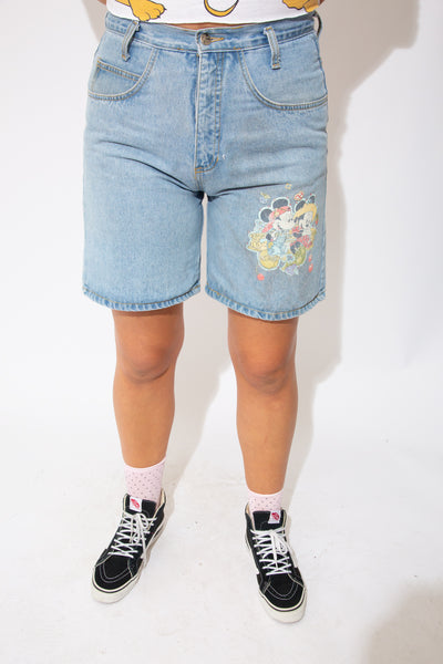 model wearing disney shorts, magichollow