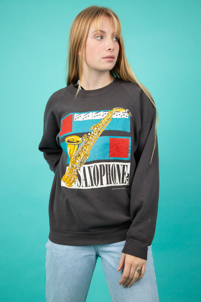 1987 Saxophone Sweater