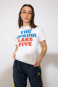 Model wearing running tee, magichollow