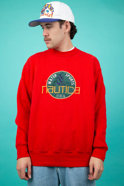Bootleg Nautica Spell-Out Sweater