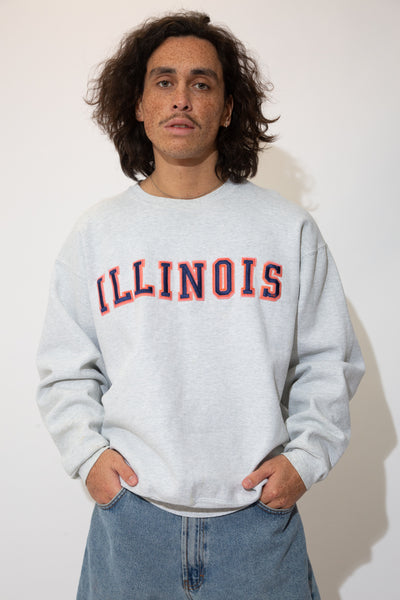 illinois sweater. 90s vintage. magichollow.
