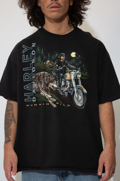 harley davidson graphic tee. 90s vintage. magichollow!