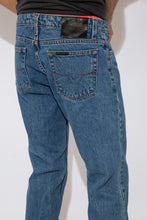 Load image into Gallery viewer, straight-cut vintage dark-wash harley davidson jeans - magichollow