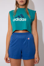 Load image into Gallery viewer, Adidas cropped singlet in teal
