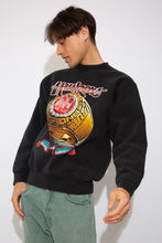 Load image into Gallery viewer, black sweater with large front graphic of the '94 cornhuskers championship ring. magichollow