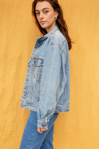 Edwin Distressed Denim Jacket