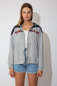 tommy hilfiger hooded sweater with a zip up front