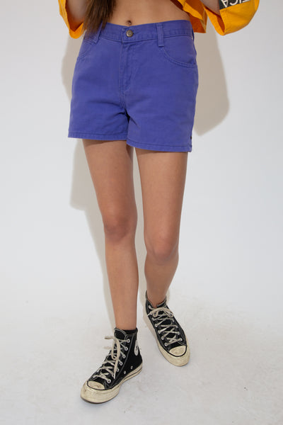 With their high-waisted style, booty short fit, matching purple stitching and 'No Boundaries' branding on the button and domes, these pretty purple shorts are a must-have!