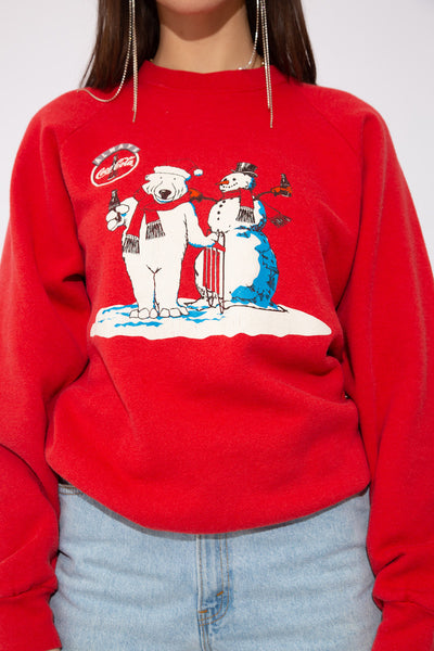 model wearing coca cola sweater,  from magichollow