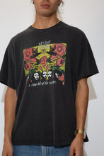Load image into Gallery viewer, faded black tee featuring incubus a crow left of the murder graphic on front