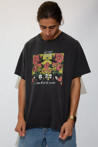 faded black tee featuring incubus a crow left of the murder graphic on front