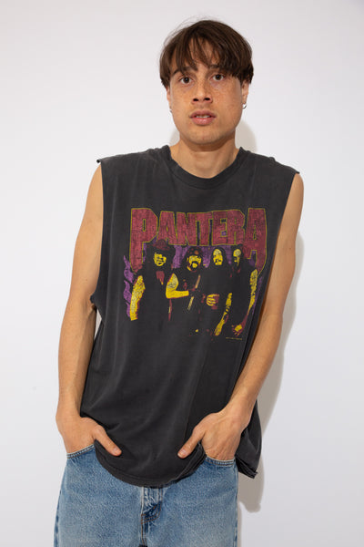 Pantera Muscle tank - distressed. vintage magichollow