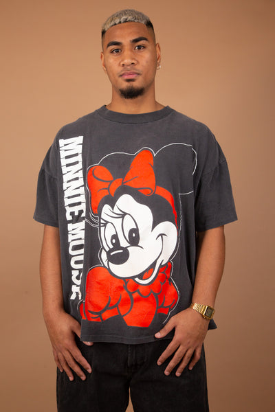 faded black minnie mouse tee. 90s vintage. magichollow.