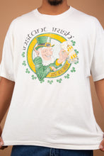Load image into Gallery viewer, white tee with irish graphic on the front. 90's vintage at magichollow