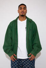 Load image into Gallery viewer, Green Nautica Zip-up jacket with a collar. magichollow vintage