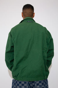 Green Nautica Zip-up jacket with a collar. magichollow vintage