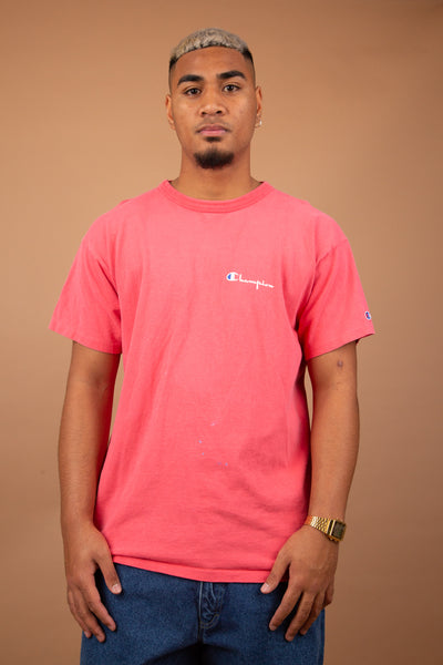 bright pink champion short-sleeved tee. magichollow