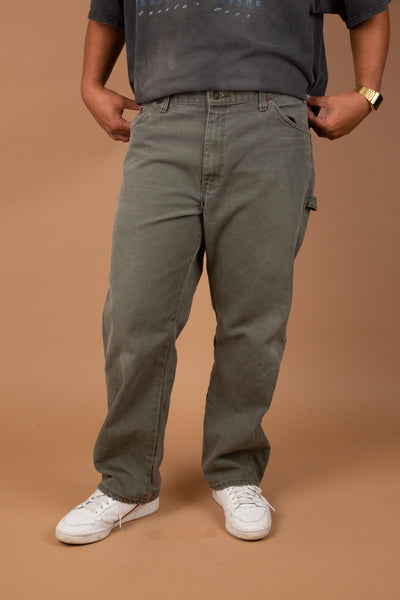 faded khaki dickies utility style pants - vintage by magichollow