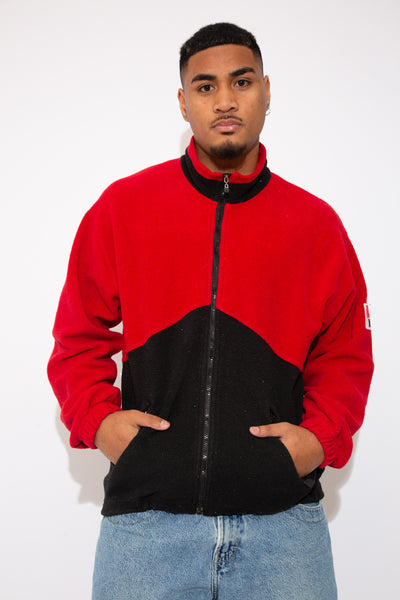 Red and Black Fleece with Marlboro logo on the left sleeve. vintage magichollow