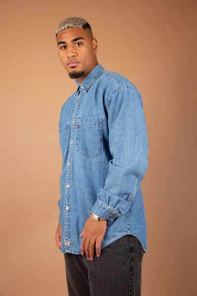 Levi's denim look button up - vintage by magichollow