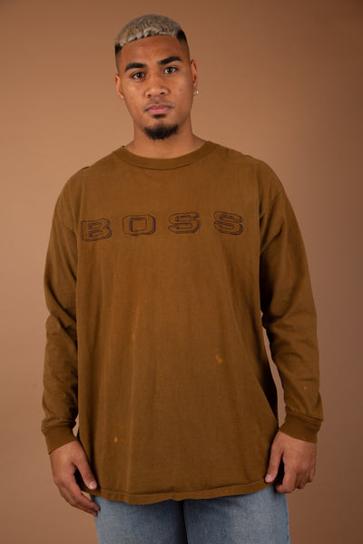 Distressed BOSS Longsleeve
