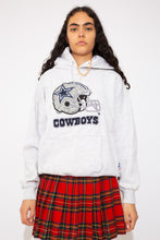 Load image into Gallery viewer, light grey hoodie with dallas cowboys graphic on the front. magichollow