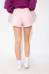 pink short-shorts with white stripes up the side. Magichollow