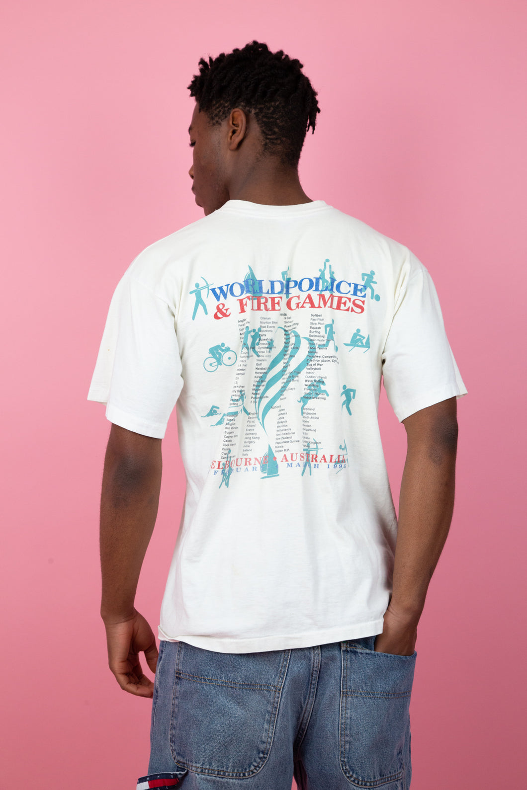 Distressed 1995 Police & Fire Games Tee