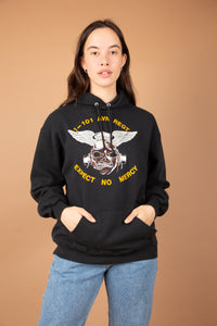 Model wearing hoodie, magichollow