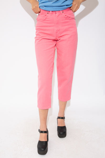 hot pink 7/8 jeans. magichollow