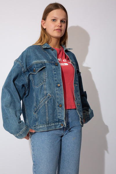 Mid-wash calvin Klein denim jacket