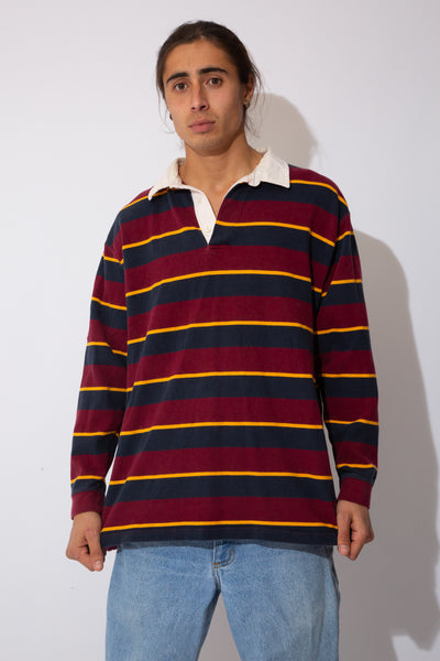 multicoloured horizontal stripe rugby