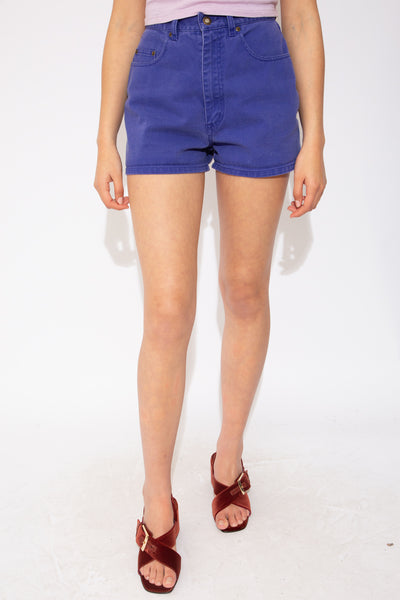 Sick purple shorts with purple stitching and pockets on the back and front. Branded on the back waistline and buttons.