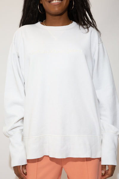 calvin klein sweater in a white colourway. 90s vintage. magichollow.
