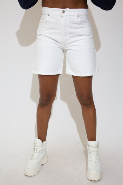 White Levi's Denim Shorts