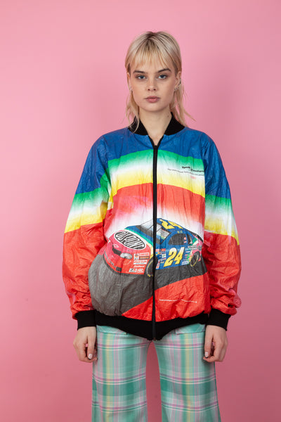 Rainbow Racing Zip-up