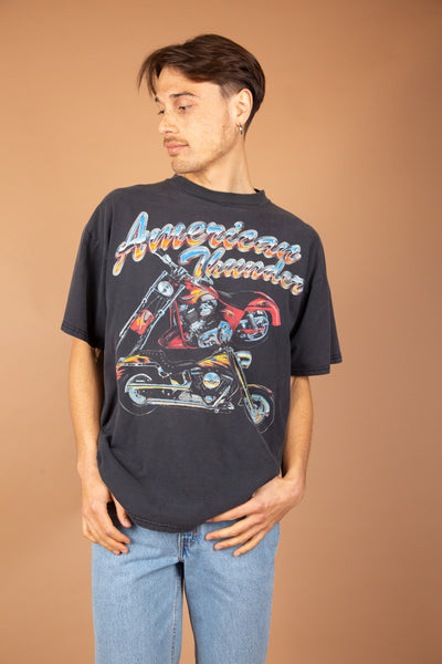 Dark grey/faded black American Thunder Tee