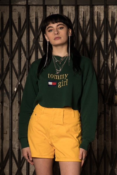 Distressed Bootleg Tommy Crop