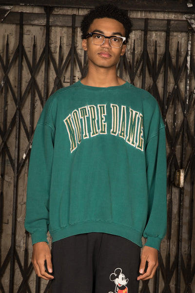 Distressed Notre Dame Sweater