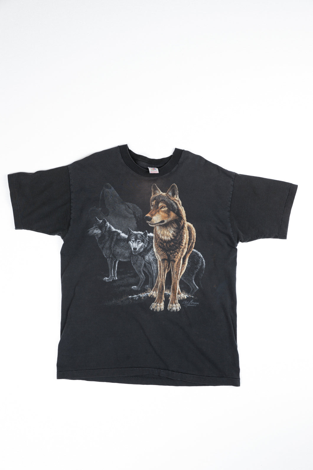 Distressed Wolf Tee