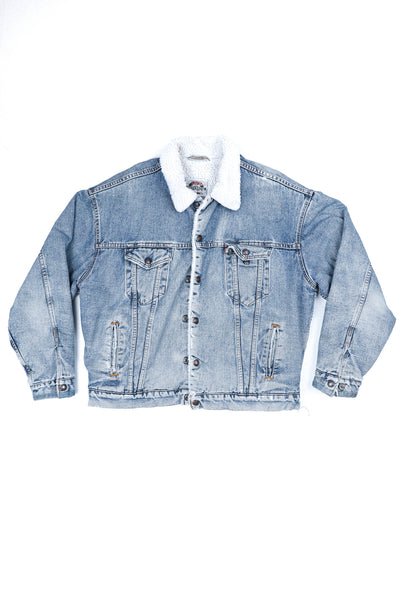 Distressed Levi's Sherpa Jacket