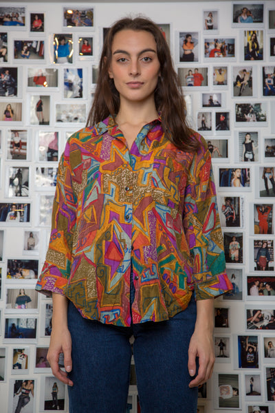 Frida Distressed Silk Shirt