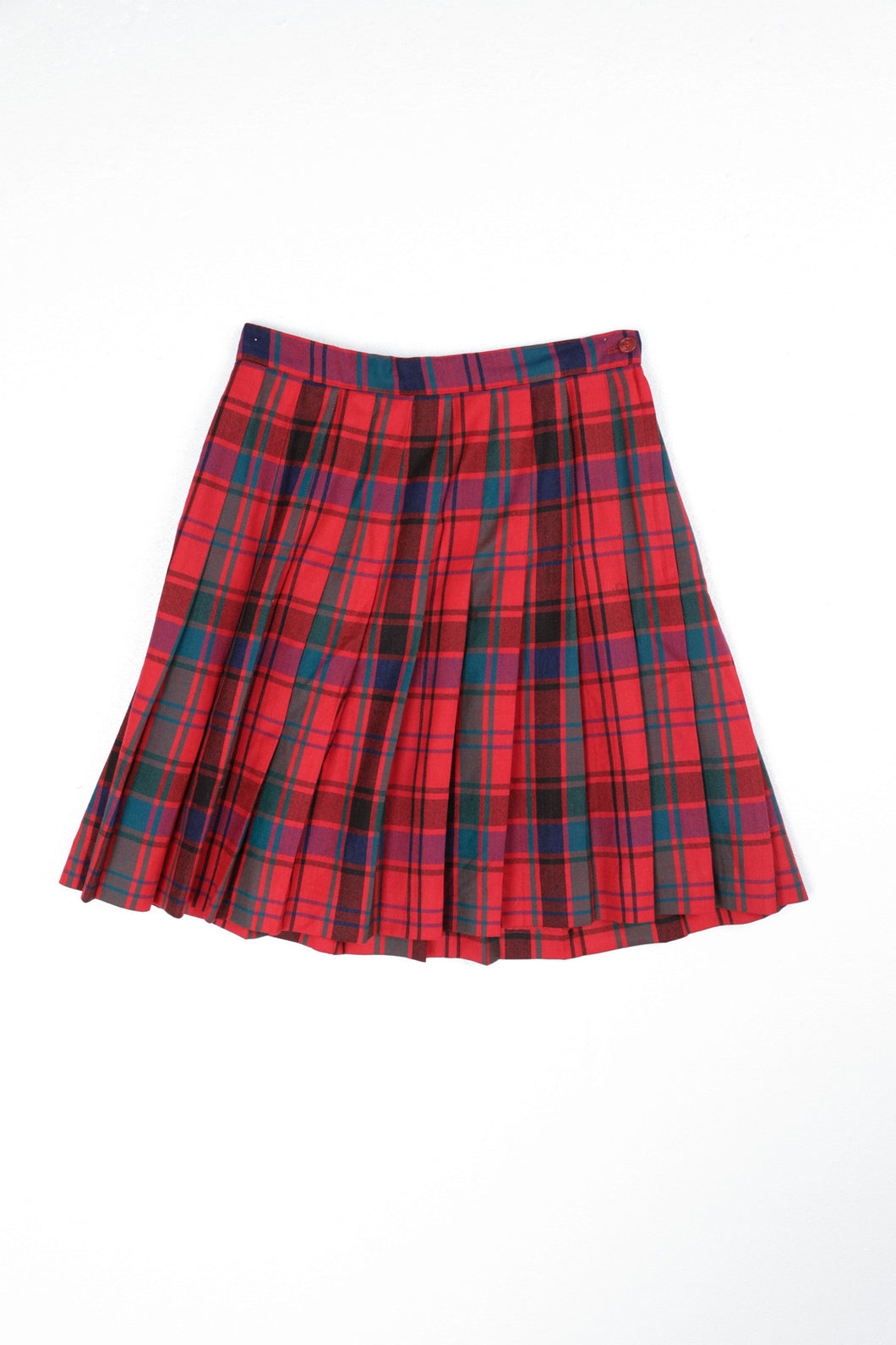 Wool Char Plaid Skirt