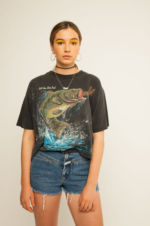 Big Catch Cropped Tee