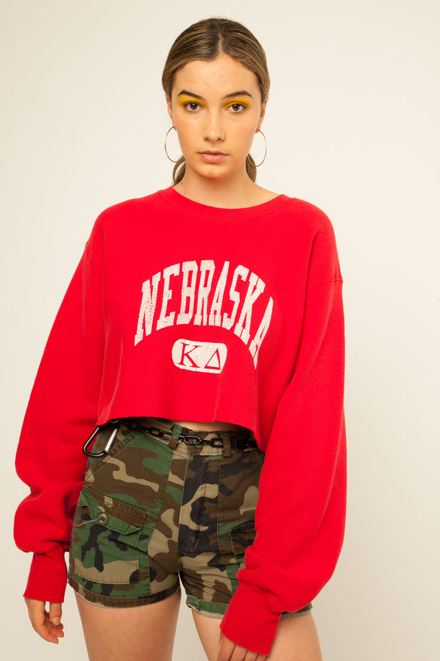 Nebraska Cropped Sweatshirt